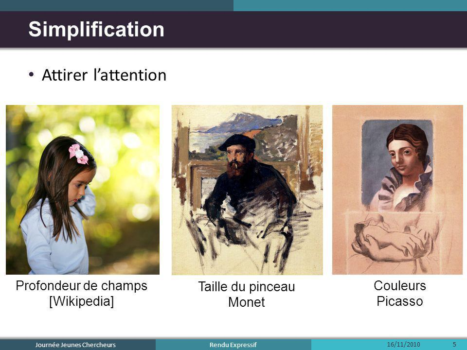 Simplification Attirer l'attention Profondeur de champs [Wikipedia]